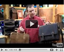 Custom Logo Canyon Outback Buffalo Hide Leather Briefcases and Gifts Video