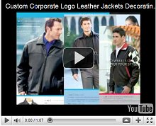 Custom Corporate Logo Leather Jackets Decorating Techniques Video