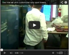 See how we print customized rally sport towels at our factory