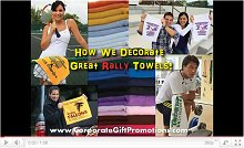 See how we print customized rally sport towels at our factory Video