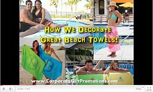 See how customized beach towels are printed at our factory Video