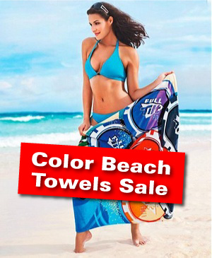 Full Color Beach Towels On Sale