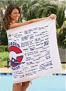 custom signature printed beach towels