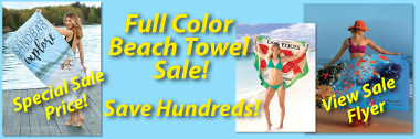 color custom beach towels on sale