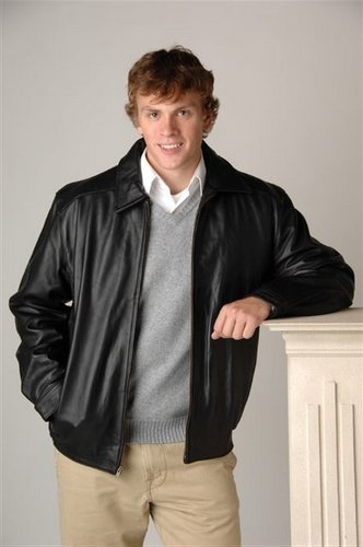 Custom Leather   Personalized Leather   Leather Car Coat - Bomber