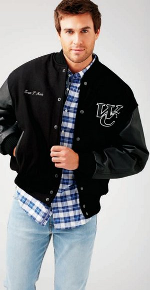 Wool and Leather Varsity Jackets - Unisex