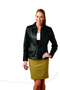 Ladies Napa Leather Car Coat