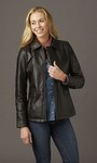 Ladies Hipster Custom  Leather Jacket