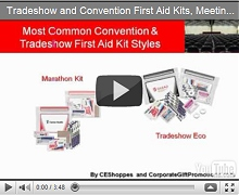 Tradeshow and Convention First Aid Kits, Meeting Survival Kit<BR> and Hangover Kits for Business Video
