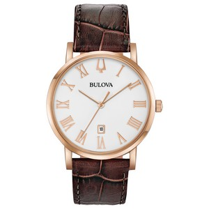 Bulova Watches Mens Strap Watch from the American Clipper Collection