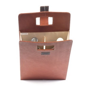 Dual Leather Wine Carrier