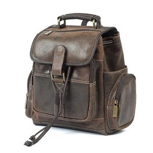 Small Uptown Leather Backpack