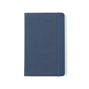 Moleskine Leather Ruled Large Notebook Forget Me Not Blue