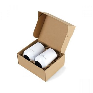 Aviana Clover Stainless Wine Tumblers Gift Set - White Opaque Gloss