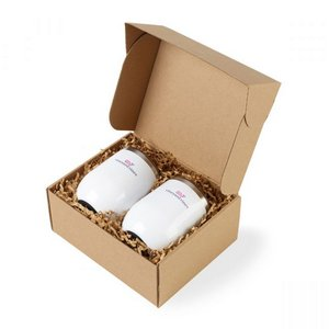 Corkcicle Stemless Wine Cup Gift Set Gloss White