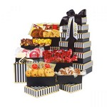 Party Tower of Individually Wrapped Treats - 36 pc - Black & White Stripes