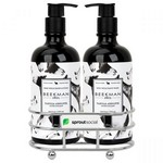 Beekman 1802 Vanilla Absolut Soap & Lotion Gift Set - Chrome Plated Metal - Beekman