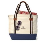 Heritage Supply Catalina Cotton Tote - Natural/Navy