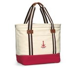 Heritage Supply Catalina Cotton Tote - Natural/Red