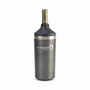 Aviana  Chateau Double Wall Stainless Wine Bottle Cooler Charcoal