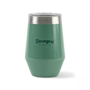 Aviana Vine Double Wall Stainless Wine Tumbler - 12 Oz. Sage Opa