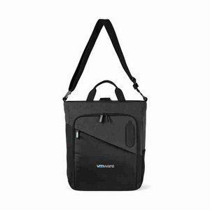 Life in Motion  Linked Charging Computer Tote Black/Dark Grey Heather