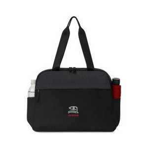 Life In Motion   All Day Computer Tote Black-Charcoal Heather