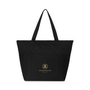 Madeline Quilted Computer Tote - Black