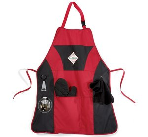 Grill Master BBQ Apron Kit Red