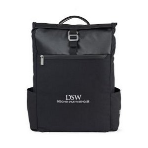 Charlie Cotton Computer Backpack - Black