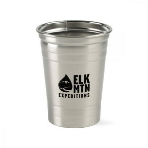 Party Time Stainless Tumbler - 17 Oz. Stainless Steel