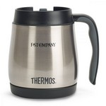 Thermos Stainless Steel Desk Mug - 16 Oz. Stainless Steel