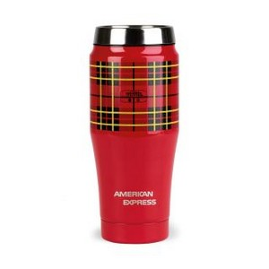 Thermos Heritage Plaid Travel Tumbler- 16 Oz. Red