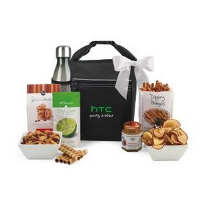 Spirited Gourmet Lunch Break Cooler with Geyser Bottle Gift Set B