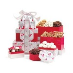 Celebrate the Season Gourmet Sweets & Treats Tower Red/Silver