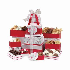 Best of the Season Gourmet Sweets & Treats Tower Red/Silver Patte