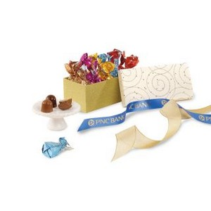 Decadent Artisan Truffles Gift Box Sparkling - White and Gold