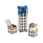 Mad For Plaid Sweet & Savory Snacks Keepsake Box Black and Cream