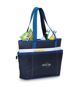 Vineyard Insulated Tote Navy Blue