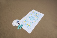 Diamond Collection White Beach Towel (Embroidery)