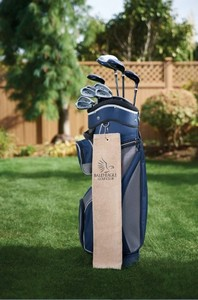 Diamond Collection Golf Towel w/ Tri-Fold Grommet -Embroidered