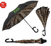 The Leopard ViceVersa Inverted Umbrella - Manual-Open, Reverse Cl