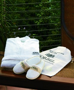 CABANA BAY Robe and Slippers Gift Set