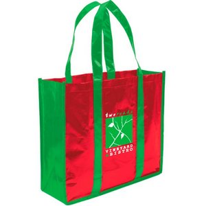 Laminated Non-Woven 3 Bottles Wine Tote Bag