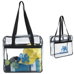 Clear Zippered Tote Bag
