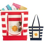 Striped Cotton Tote Bag