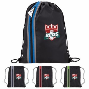 Vertical Zippered Drawstring Backpack